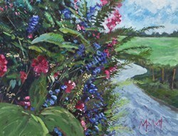 Wild Flowers by Timmy Mallett - Oil on Board sized 20x15 inches. Available from Whitewall Galleries