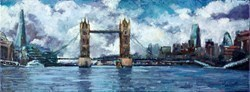 Tower Bridge and the City by Timmy Mallett -  sized 31x12 inches. Available from Whitewall Galleries