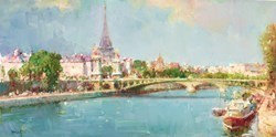 Parisian Summer by Helios -  sized 16x8 inches. Available from Whitewall Galleries