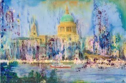 St Paul's by Annie Blanchet Rouze -  sized 36x24 inches. Available from Whitewall Galleries