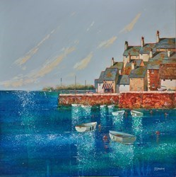 Copper Quay by Steve Bowden -  sized 18x18 inches. Available from Whitewall Galleries