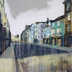 High Street, Oxford by Camilla Dowse -  sized 12x12 inches. Available from Whitewall Galleries