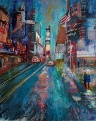 New York, Times Square by Annie Blanchet Rouze -  sized 24x30 inches. Available from Whitewall Galleries