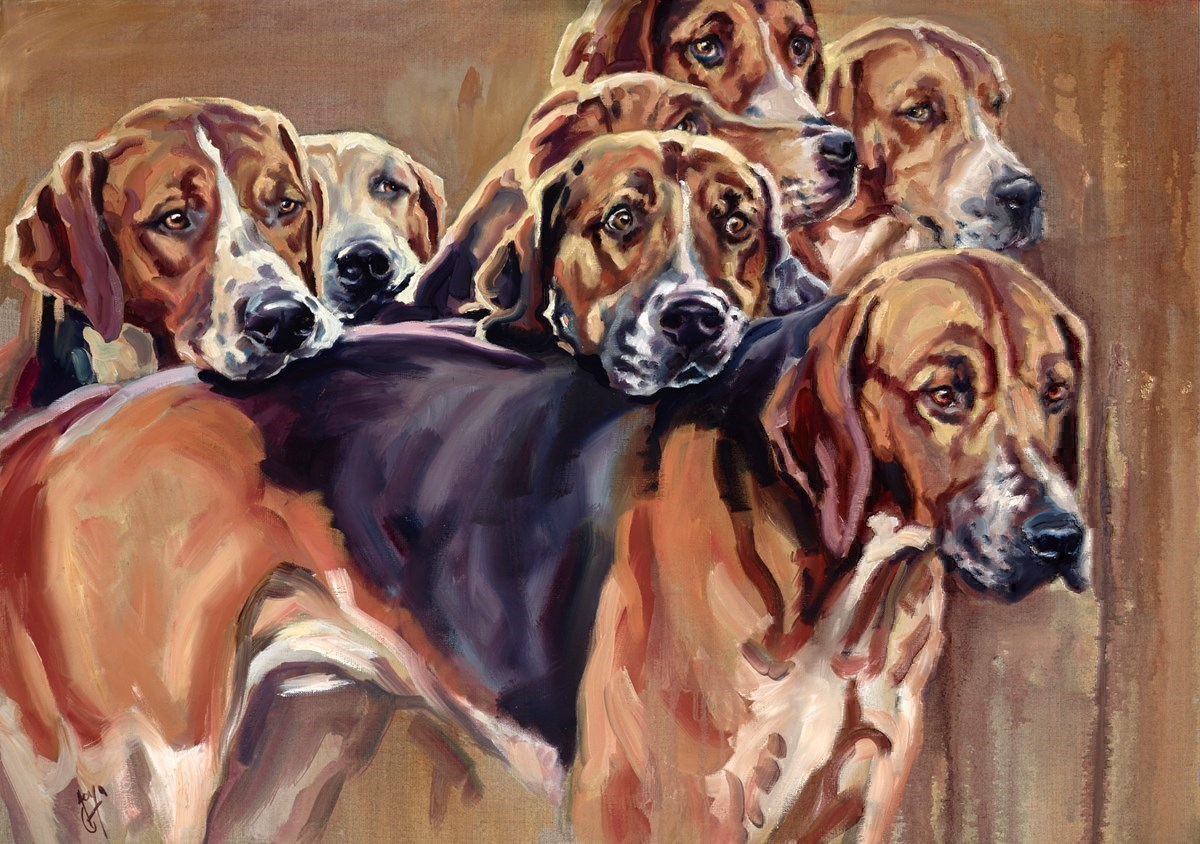 Entourage by Joy Harris -  sized 36x26 inches. Available from Whitewall Galleries