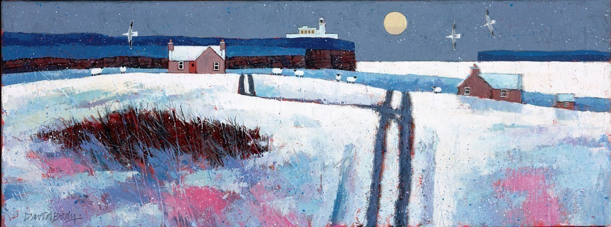 Snowy Day by David Body -  sized 31x12 inches. Available from Whitewall Galleries