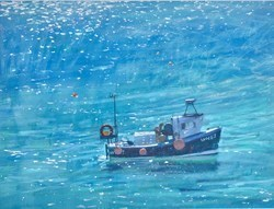 Fishing Boat, Midday Sun by James Bartholomew -  sized 40x30 inches. Available from Whitewall Galleries