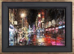 Rainy Evening - Hippodrome by David Porteous Butler -  sized 24x20 inches. Available from Whitewall Galleries