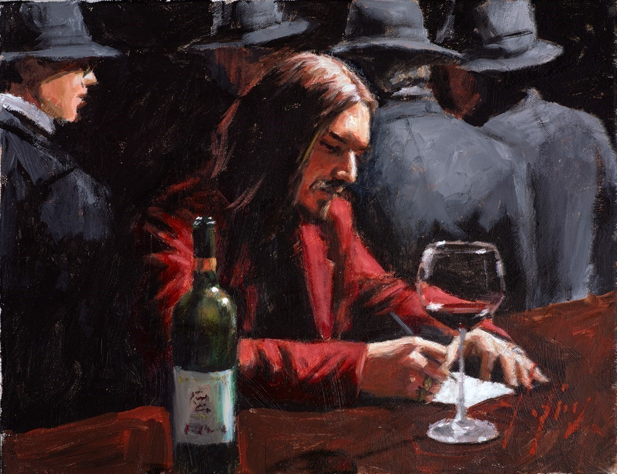 Study for Man at the Bar (Wine)