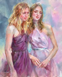 Standing Near by Anna Razumovskaya -  sized 24x30 inches. Available from Whitewall Galleries