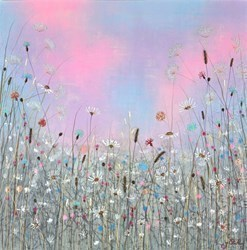 Wild Meadow IV by Jo Starkey -  sized 28x28 inches. Available from Whitewall Galleries