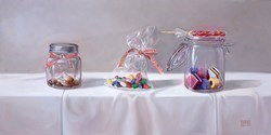 Tarro de Dulces III by Raquel Carbonell -  sized 24x12 inches. Available from Whitewall Galleries