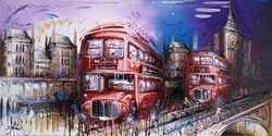 City Cruisers II by Samantha Ellis -  sized 48x24 inches. Available from Whitewall Galleries