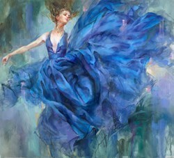 Above the Stars by Anna Razumovskaya -  sized 72x80 inches. Available from Whitewall Galleries