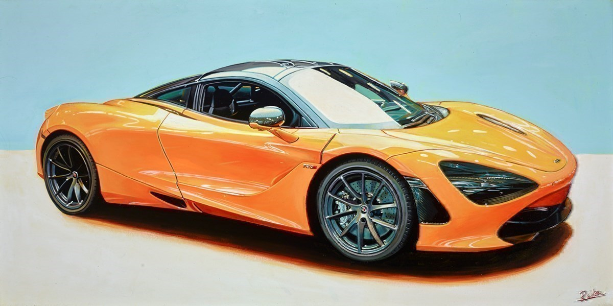 2018 McLaren 720s by Roz Wilson -  sized 40x20 inches. Available from Whitewall Galleries