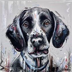 Alfie by Samantha Ellis -  sized 32x32 inches. Available from Whitewall Galleries