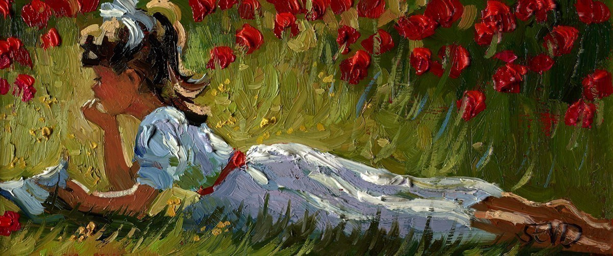 Relaxing amongst the Poppies