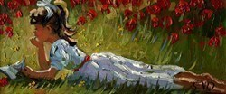 Relaxing amongst the Poppies by Sherree Valentine Daines -  sized 11x5 inches. Available from Whitewall Galleries