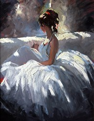 Waiting to Perform by Sherree Valentine Daines -  sized 14x18 inches. Available from Whitewall Galleries