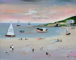 Coral Shores I by Lucy Young -  sized 16x13 inches. Available from Whitewall Galleries