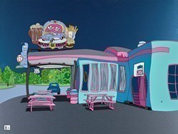 Mr D'z Route 66 Diner by Dylan Izaak -  sized 32x24 inches. Available from Whitewall Galleries