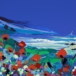 Whispering Poppies in a Sea Breeze by Duncan MacGregor -  sized 18x18 inches. Available from Whitewall Galleries