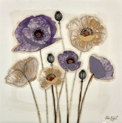 Mixed Poppies III by Chloe Nugent -  sized 20x20 inches. Available from Whitewall Galleries