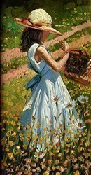 Meadow Flowers by Sherree Valentine Daines -  sized 6x11 inches. Available from Whitewall Galleries