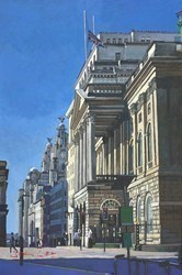 Liverpool, Town Hall and Liver Building by Stephen Collett -  sized 16x24 inches. Available from Whitewall Galleries