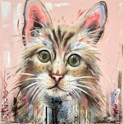 Pawsome by Samantha Ellis -  sized 30x30 inches. Available from Whitewall Galleries