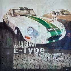 Jaguar E-Type (White) by Markus Haub -  sized 32x32 inches. Available from Whitewall Galleries