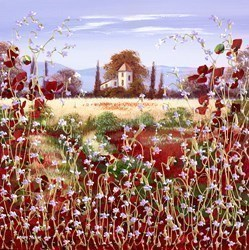 Country Wild Flowers by Mary Shaw -  sized 16x16 inches. Available from Whitewall Galleries