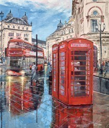 Pavemant Reflections by Ziv Cooper -  sized 34x40 inches. Available from Whitewall Galleries