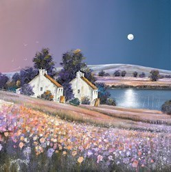 Tidal Moon by John Mckinstry -  sized 24x24 inches. Available from Whitewall Galleries
