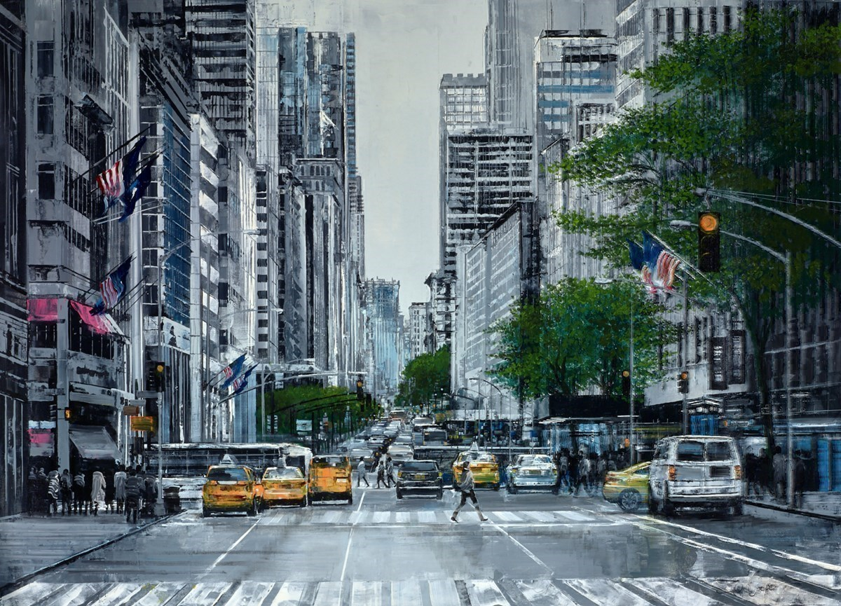 Midtown by Ziv Cooper -  sized 40x30 inches. Available from Whitewall Galleries