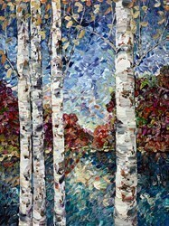 Woodland View by Maya Eventov - Original Painting on Box Canvas sized 30x40 inches. Available from Whitewall Galleries