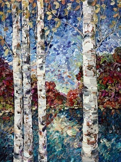 Woodland View by Maya Eventov - Original Painting on Box Canvas