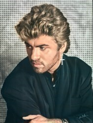 George Micheal by Nick Holdsworth -  sized 35x47 inches. Available from Whitewall Galleries