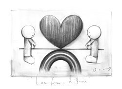 Love From A Distance Final by Doug Hyde -  sized 8x10 inches. Available from Whitewall Galleries