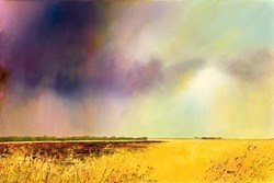 Sunset Golds by Barry Hilton -  sized 24x16 inches. Available from Whitewall Galleries