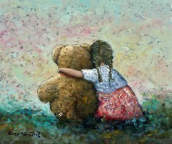 Just Me and Ted III by Keith Proctor -  sized 24x20 inches. Available from Whitewall Galleries