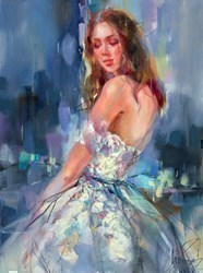 Charm of Spring I by Anna Razumovskaya -  sized 18x24 inches. Available from Whitewall Galleries