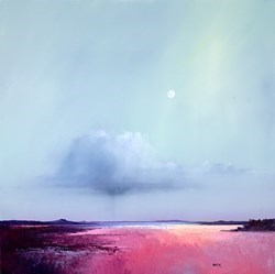 Morning Moonlight  by Barry Hilton -  sized 32x32 inches. Available from Whitewall Galleries