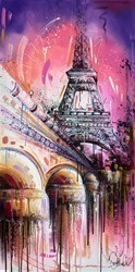 Paris in Pink III by Samantha Ellis -  sized 24x48 inches. Available from Whitewall Galleries