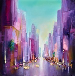 City Streets by Anna Gammans -  sized 24x24 inches. Available from Whitewall Galleries