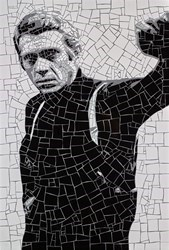 Steve McQueen by David Arnott -  sized 24x35 inches. Available from Whitewall Galleries