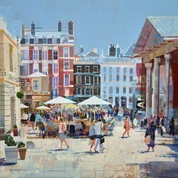 Summer Gardeners by Tom Butler -  sized 30x30 inches. Available from Whitewall Galleries
