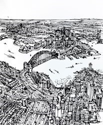 From North Sydney to Dawes Point by Ingo -  sized 47x59 inches. Available from Whitewall Galleries