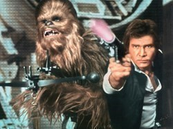 Han And Chewie by Nick Holdsworth -  sized 47x35 inches. Available from Whitewall Galleries