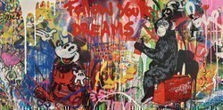 Everyday Life by Mr Brainwash -  sized 48x24 inches. Available from Whitewall Galleries