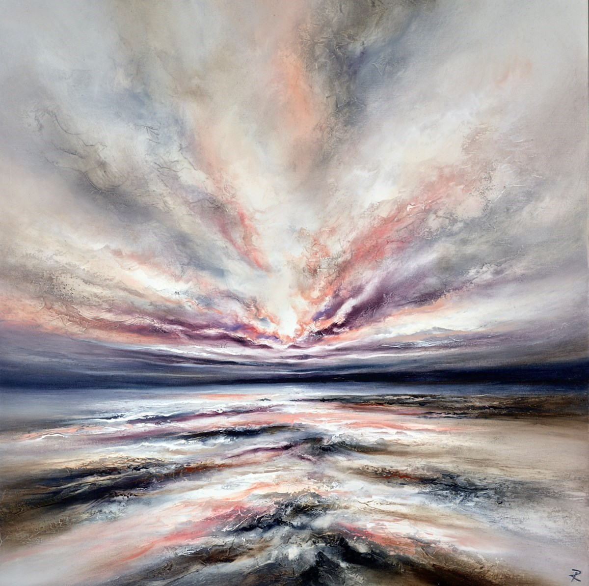 Damson Shores II by Chris and Steve Rocks -  sized 36x36 inches. Available from Whitewall Galleries